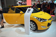 automobile, exhibition, wheel, vehicle, automotive design, auto show, hyundai veloster, land vehicle, coupã©, sports car,