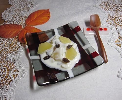 りんごの甘露煮とヨーグルト by Poran111
