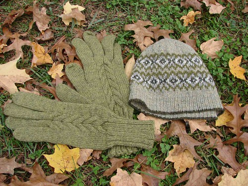 Seasons hat and gloves