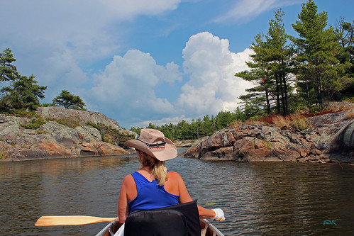 Canoeing on the Key River and Georgian Bay, Ontario, Canada, August, 2012