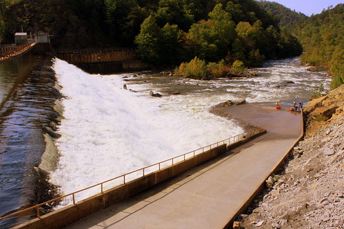 A Wide-Angle View of the Entrance to the Ocoee River