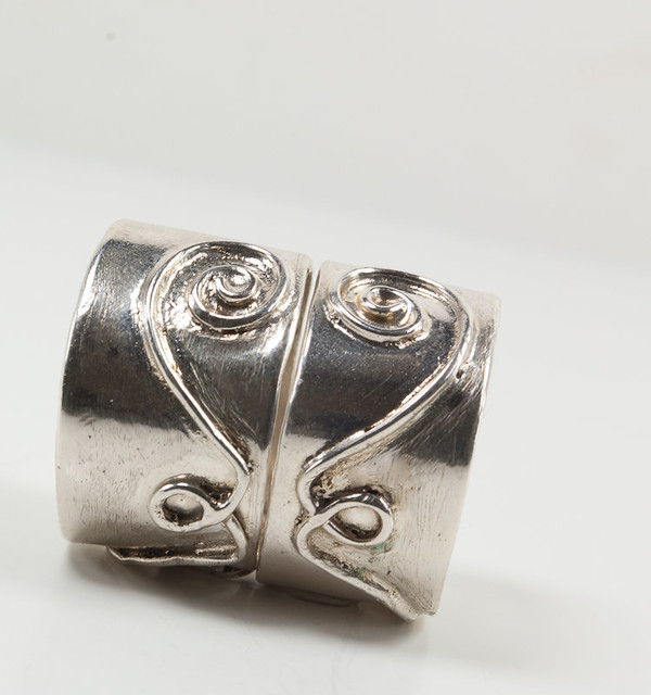 unique sterling silver wedding ring set flickr photo