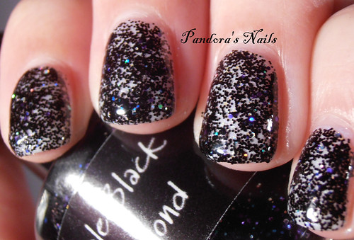 Crowstoes Triple Black Diamond over Picture Polish White Wedding 3