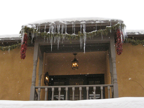 icicles in Santa Fe