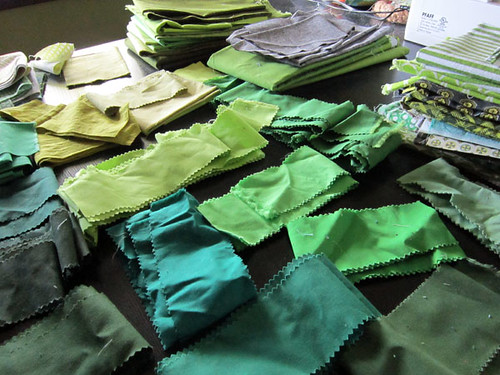 ::Green:: jelly roll scraps