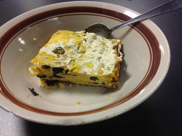 Pumpkin parsnip kale lasagna