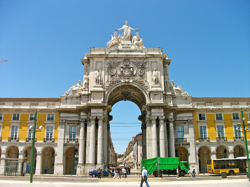 Triumphal Arch of Rua Augusta in Lisbon, Portugal
