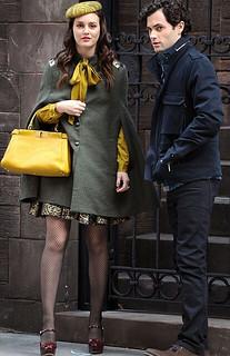 Leighton Meester Cape Coat Celebrity Style Women's Fashion