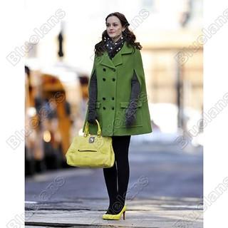 Leighton Meester Cape Coat Celebrity Style Women's Fashion 2