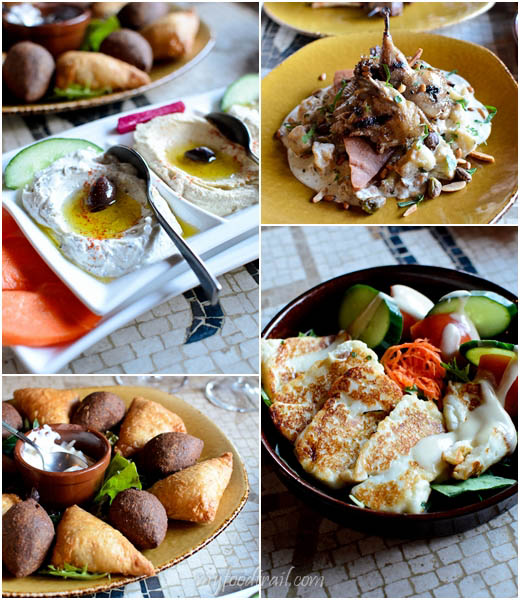 Byblos Bar & Restaurant - Dips, quail, grilled haloumi, pastries