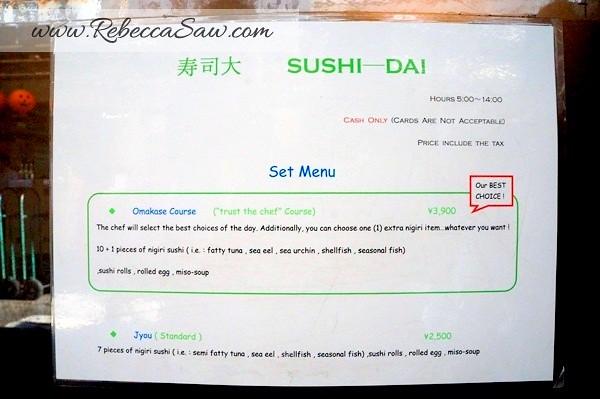 Tsukiji market - sushi dai - best sushi-002