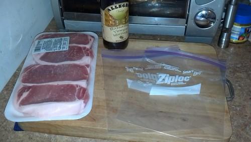 Marinading pork chops
