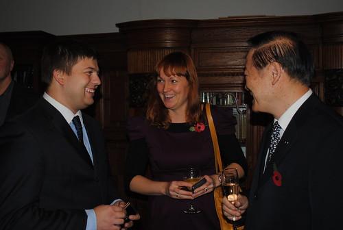 Monthly Dinner with Riga Mayor Nils Ushakovs
