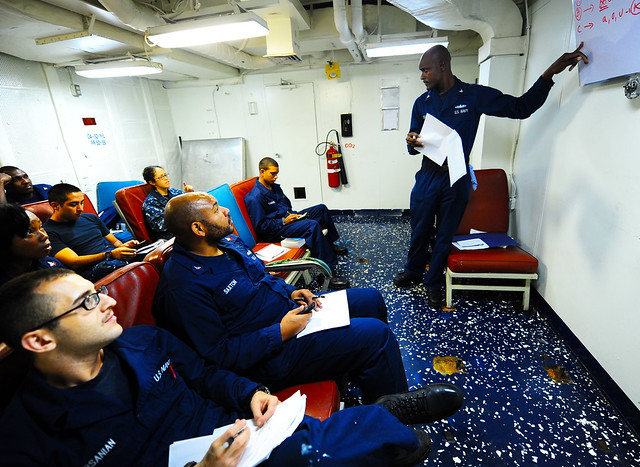 USS Tortuga Sailors Learn French and Persian