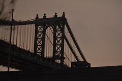 Manhattan bridge in the night