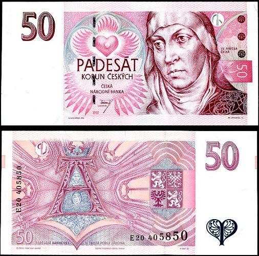50 Korun Česká republika 1997, Pick 17