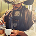 Barista Christopher Abel Alameda ~ Halloween at Handsome Coffee Roasters