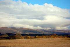 Deep cloud bank over the Pennines