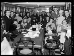 The cast of Australian film 'Mystery Island' on board SS MORINDA at no. 10 wharf Walsh Bay