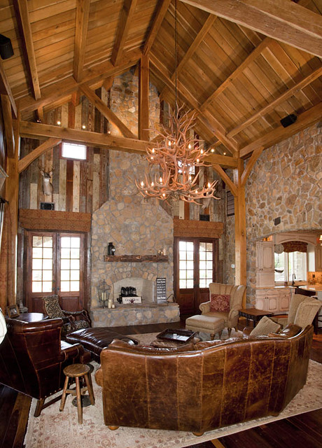 Timber frame home great room texas timber frames for Timber frame great rooms