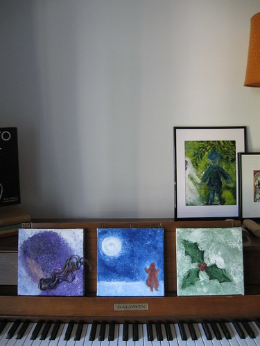 Winter Trio of Paintings