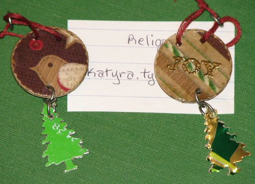Ink Stains Altered Christmas Charm Swap 006