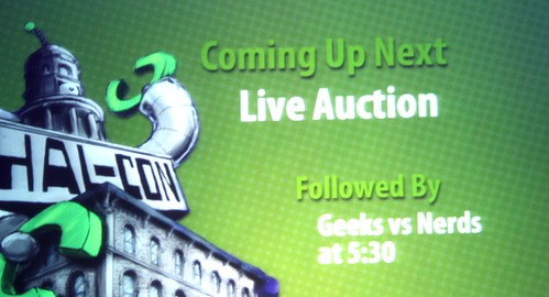 Hal-Con 2012 Charity Auction Emceed by Live 105