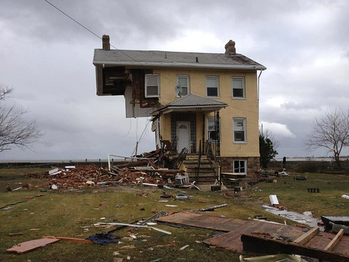 A house in Union Beach, NJ after Hurricane Sandy went through by Hazboy