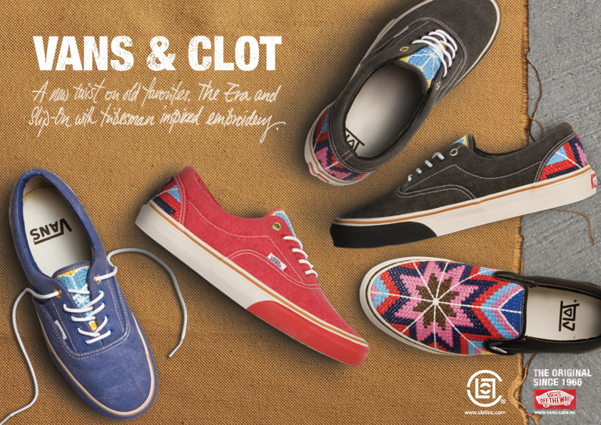 df9dfecb76 Kee Hua Chee Live!  NEW FOOTWEAR BY VANS AND CLOT PARTNERSHIP