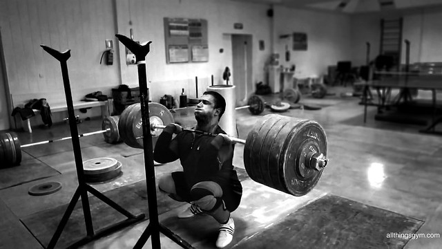 Dmitry Klokov 250kg Front Squat Wallpaper - All Things Gym