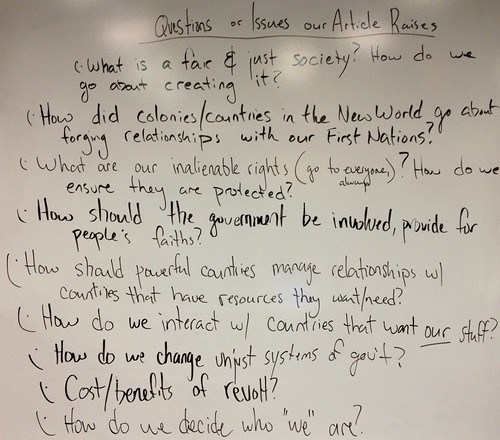 More Questions about the American Revolution