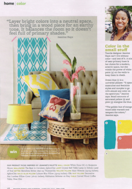Jeanine Hays Better Homes and Gardens, February 2013, Page 38