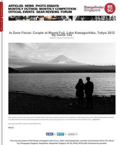 My picture featured on Rangefinder Singapore