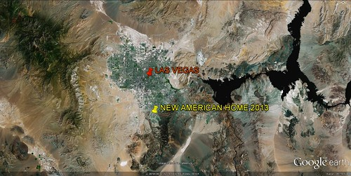 location of The New American Home 2013 (via Google Earth)