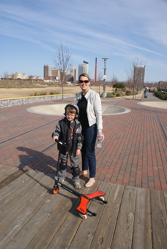 Scooting at Railroad Park
