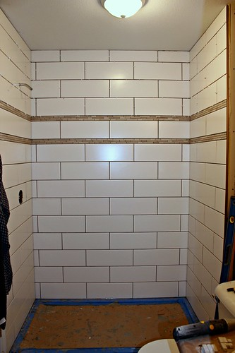tiled shower 13