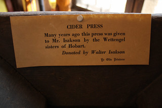 Cider press label
