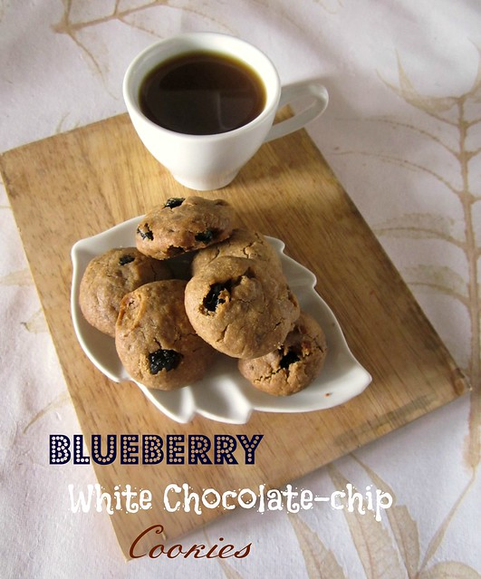 Blueberry White Chocolate-chip Cookies