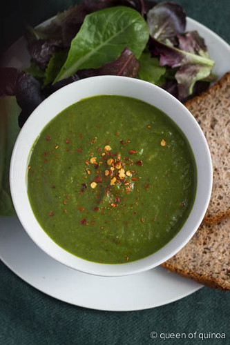 Healthy Green Soup via Queen of Quinoa
