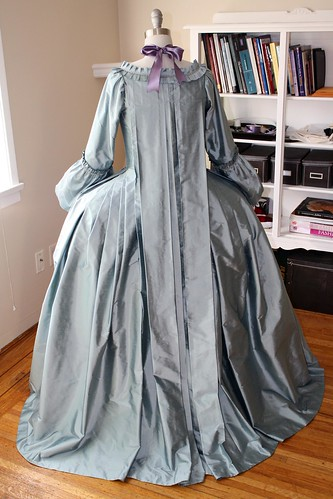 Finished gown, rear view