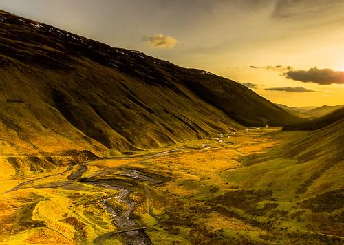 [フリー画像素材] 自然風景, 渓谷, 朝焼け・夕焼け, 風景 - イギリス ID:201302051200
