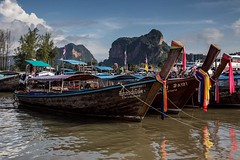 Longtail boats near Krabi, Thailand. Happy to say I will be visiting again very soon. • • • • • #travel #thailand #amazingthailand #tourismthailand #artofvisuals #athomeintheworld #awesome_earthpix #awesome_photographers #awesomeearth #awesomeglobe #TLPic