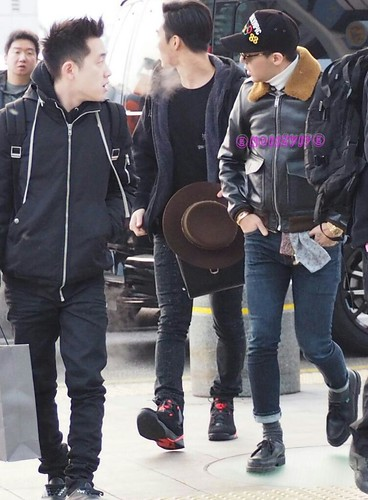 G-Dragon & TOP - Incheon Airport - 30jan2015 - G-Dragon - NoiizVip - 01