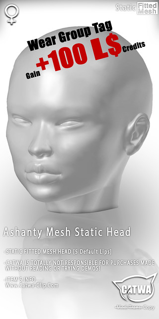 CATWA STATIC HEAD Ashanty