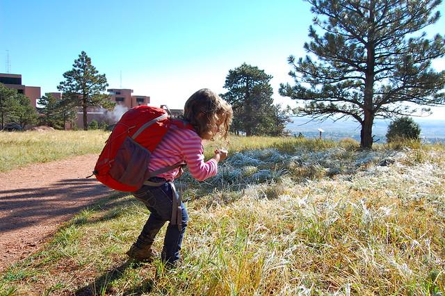 Eating Glaze Ice - Hiking at NCAR, Boulder, CO