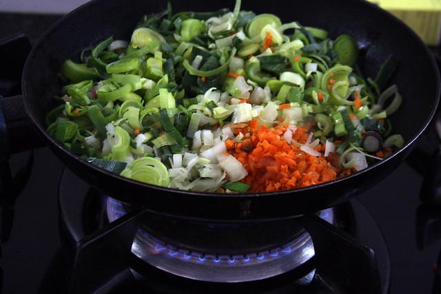 Salteando Verduras