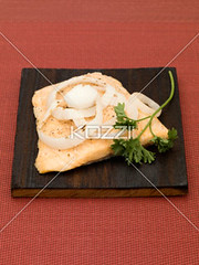 Fish Fillet with Onions and Parsley