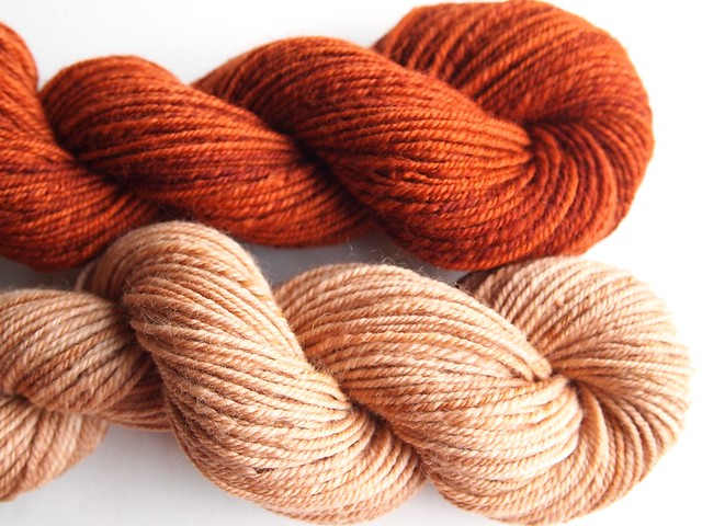 FCK-ss-Rust, Toasted Almond, chain plied