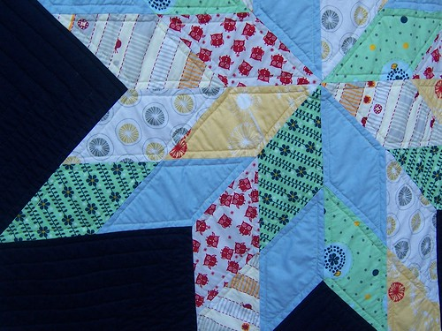 my baby boy's quilt very close