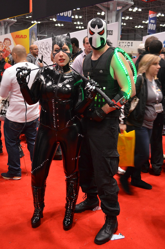 Catwoman and Bane cosplay